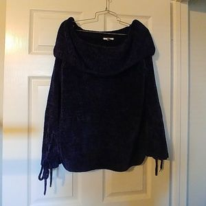 Chenille off- shoulder Sweater